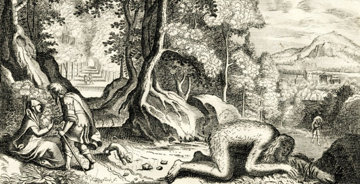 Nabucodonosor si trasforma in bestia, incisione su una Bibbia del XVIII secolo