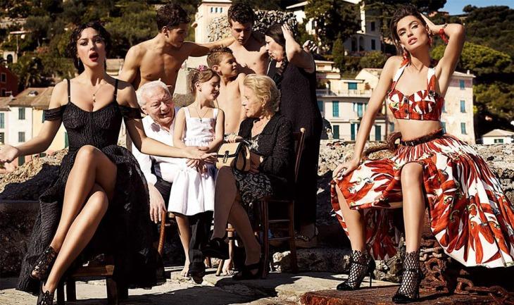 Una pubblicità Dolce e Gabbana